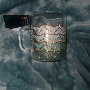 starbucks glass mermaid tail cup